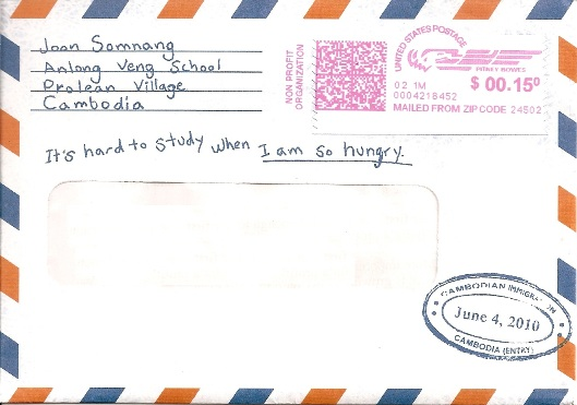 cambodian charity envelope