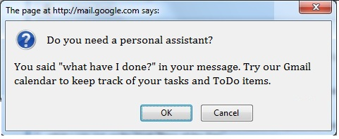 nosy gmail dialogue box