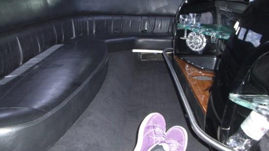 limo interior, car pool, earth day