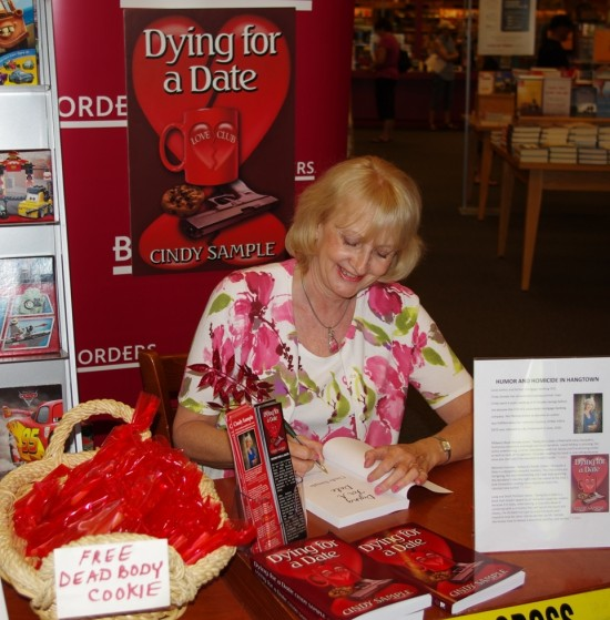 Cindy Sample, Dying For a Date, Mystery Authors, Sacramento Authors