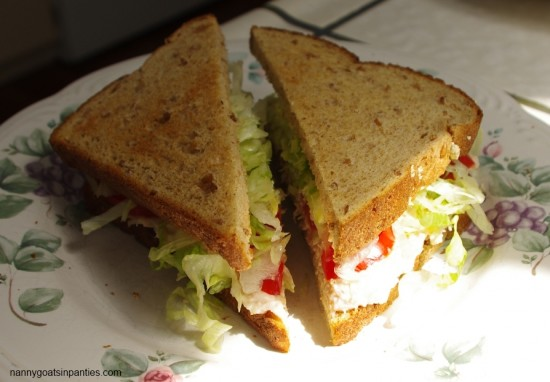 sandwiches, diagonal cut, sandwich, Nanny Goats in Panties, lunch, lunchtime, school lunches