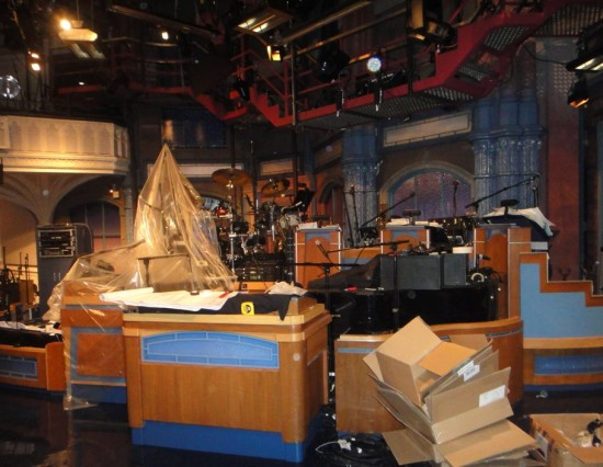 letterman set bandstand