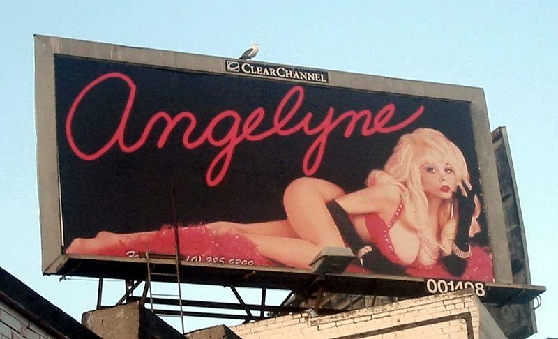 Angelyne, billboard