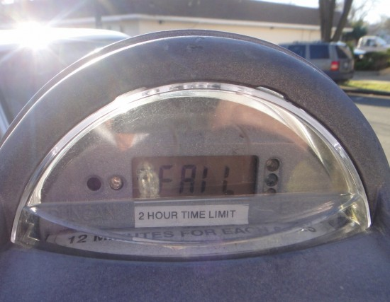 parking meter, fail, expired