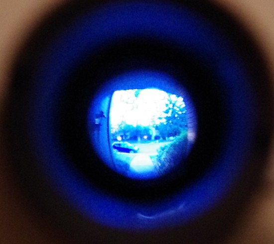 peephole, view through peephole