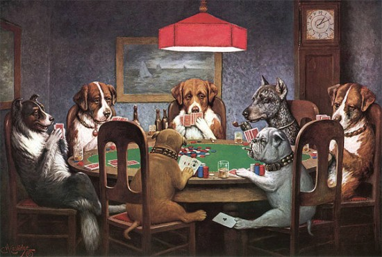 dogs playing poker, coolidge