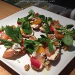 beet crostini, graces table, napa