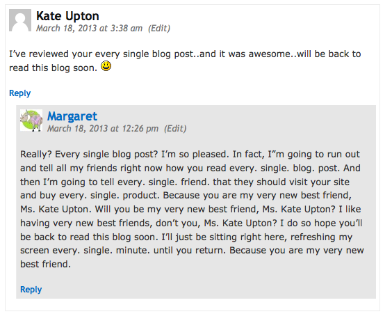 spam comment kate upton
