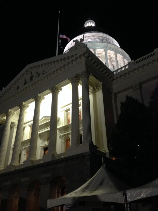 sacramento capitol, night