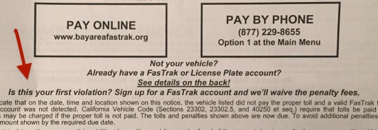 fastrak, toll violation, bridge toll