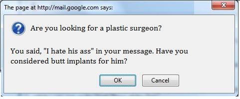 nosy gmail dialogue box
