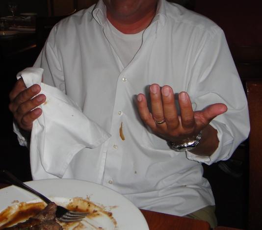 alex spilled food