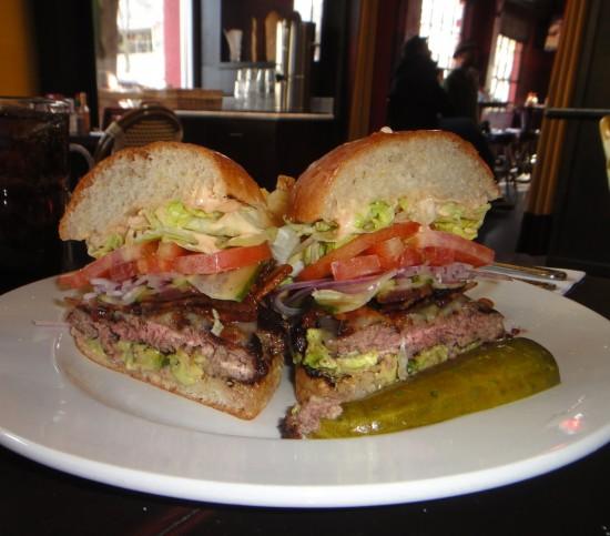 cafe bernardo, bacon cheeseburger
