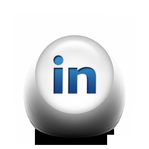 098781 Blue White Pearl Icon Social Media Logos Linkedin