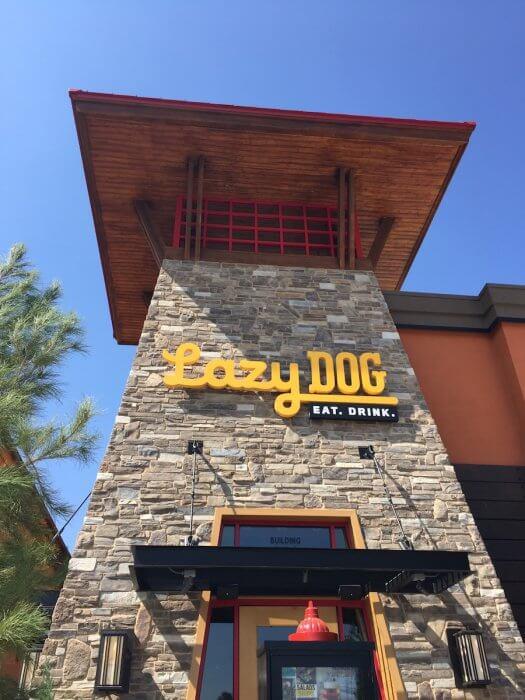 Lazy Dog Entrance